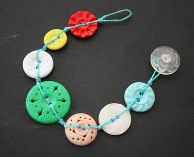 How to make a button bracelet. Button Bracelet - Step 13