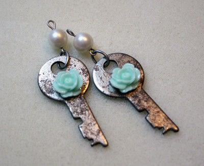 How to make a pair of key earrings. Sweet Key Earrings - Step 6