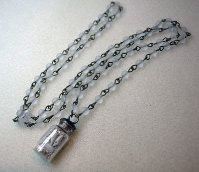 How to make a vial. Bottled Treasure Necklace - Step 11
