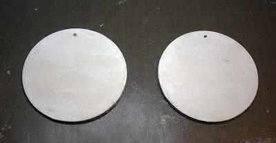 How to make an earring. Washi Tape Earrings - Step 1