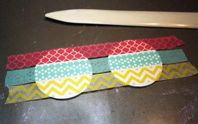 How to make an earring. Washi Tape Earrings - Step 3