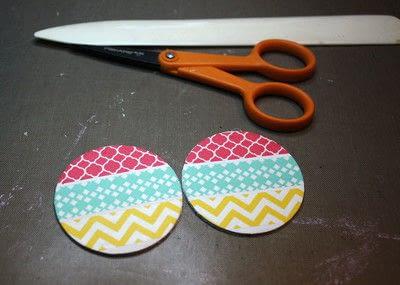 How to make an earring. Washi Tape Earrings - Step 6