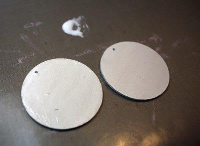 How to make an earring. Washi Tape Earrings - Step 10