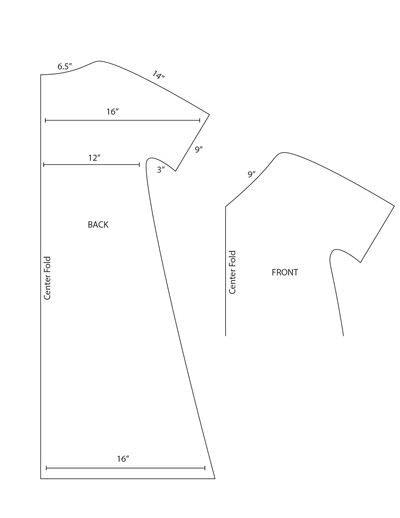 How to make a kimono. Kimono Sleeve Maxi Dress - Step 1