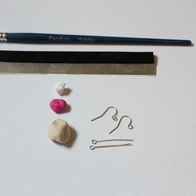 How to make a pair of clay earring. Doughnut Earrings - Step 1