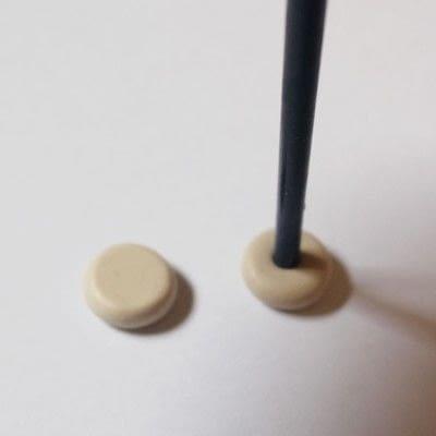 How to make a pair of clay earring. Doughnut Earrings - Step 4