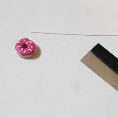 How to make a pair of clay earring. Doughnut Earrings - Step 14