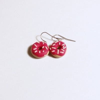 How to make a pair of clay earring. Doughnut Earrings - Step 17
