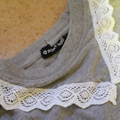 How to make a collared top. Peter Pan Collared T Shirt - Step 3