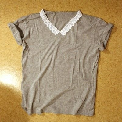 How to make a collared top. Peter Pan Collared T Shirt - Step 7