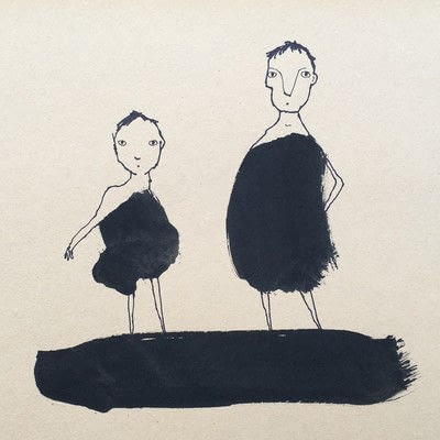 How to create a drawing or painting. Creating Ink Figures - Step 3