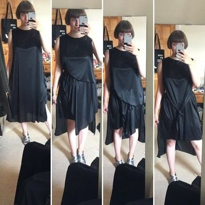 How to sew a hand sewn dress. Layered Dress Hack - Step 1