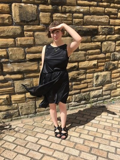 How to sew a hand sewn dress. Layered Dress Hack - Step 6