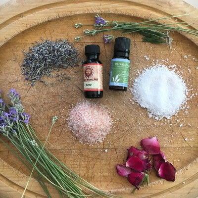 How to make a bath salt. Lavender Rose Bath Salts - Step 1