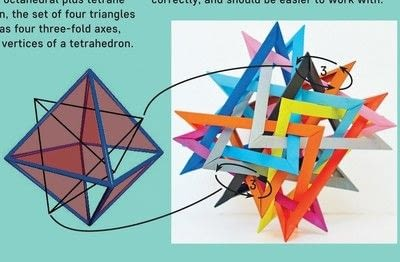 How to fold an origami shape. 16 Triangles - Step 20