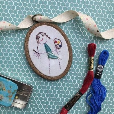 How to embroider art. How To Turn Your Child's Artwork Into An Embroidered Keepsake - Step 6