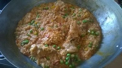 How to cook a chicken dish. Chicken Paella - Step 7
