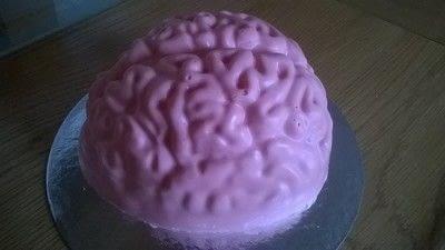 How to bake a sponge cake. Halloween Brain Cake - Step 11