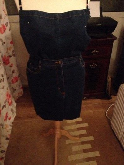 How to make a pinafore dress. Making A Pinafore Dress Out Of An Old Pair Of Jeans - Step 7