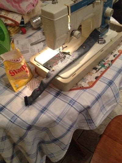 How to make a pinafore dress. Making A Pinafore Dress Out Of An Old Pair Of Jeans - Step 11