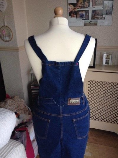 How to make a pinafore dress. Making A Pinafore Dress Out Of An Old Pair Of Jeans - Step 16