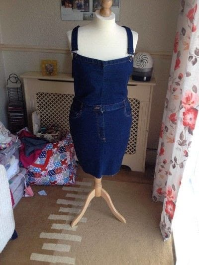 How to make a pinafore dress. Making A Pinafore Dress Out Of An Old Pair Of Jeans - Step 18