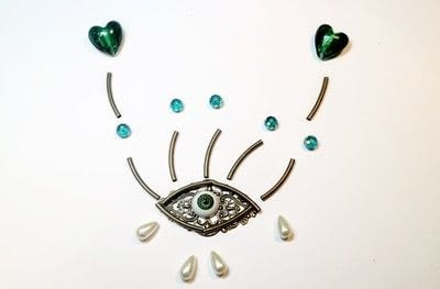 How to make a pendant necklace. Weeping Eye Necklace - Step 2