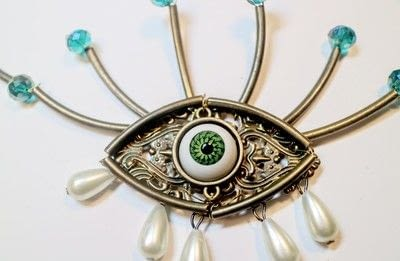 How to make a pendant necklace. Weeping Eye Necklace - Step 19