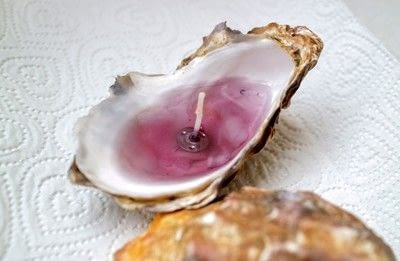 How to make a shell candle. Seashell Candles - Step 8