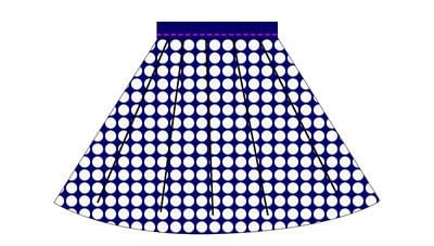 How to sew a gathered skirt. Nautical Sailor Skirt - Step 8