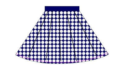 How to sew a gathered skirt. Nautical Sailor Skirt - Step 9