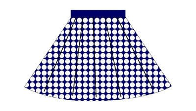 How to sew a gathered skirt. Nautical Sailor Skirt - Step 10