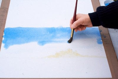 How to paint a piece of watercolor art. Laying A Graduated Wash - Step 5
