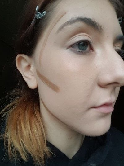How to create a tan or contour makeup. How To: Contouring Your Face - Step 1