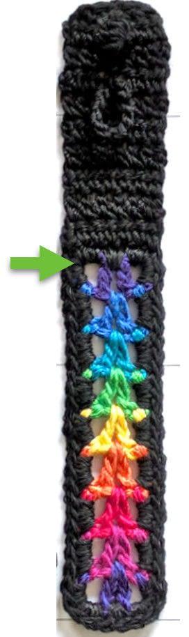 How to stitch a knit or crochet bracelet. Valor Bracelets - Step 4