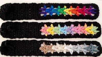 How to stitch a knit or crochet bracelet. Valor Bracelets - Step 3