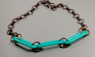 How to make a beaded necklace. Large Link Necklace - Step 3