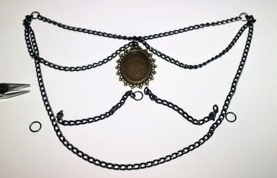 How to make a cameo. Cameo Waterfall Necklace - Step 1