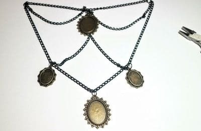 How to make a cameo. Cameo Waterfall Necklace - Step 3