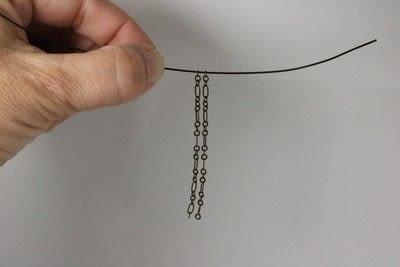 How to make a chain earring. Chain Drop Earrings - Step 3