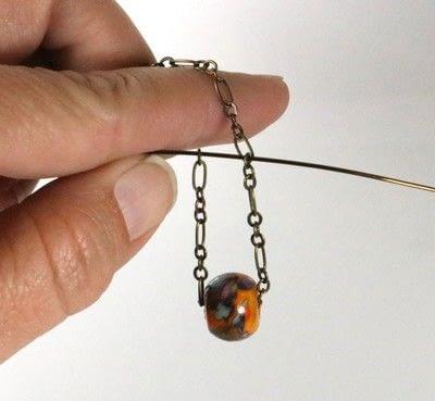 How to make a chain earring. Chain Drop Earrings - Step 2