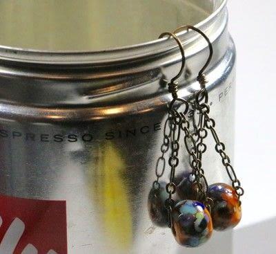 How to make a chain earring. Chain Drop Earrings - Step 10