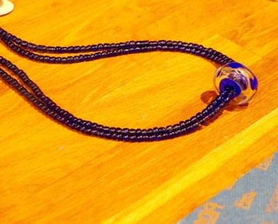 How to make a beaded pendant. Seed Bead Focal Necklace - Step 3
