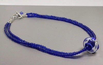 How to make a beaded pendant. Seed Bead Focal Necklace - Step 5
