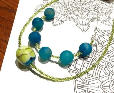 How to make a beaded pendant. Seed Bead Focal Necklace - Step 6