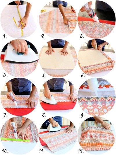 How to make a pillow/cushion. No Sew Patio Cushions And Pillows - Step 3