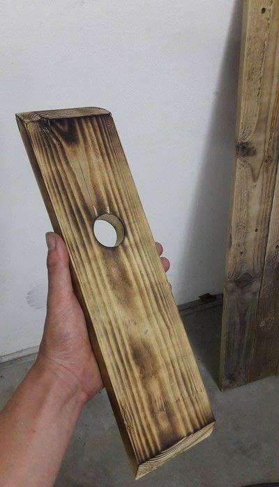 How to make a wood burned box. Diy Weinhalter Aus Eu Pallete / Wineholder Out Of Palette - Step 6