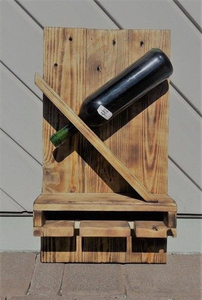 How to make a wood burned box. Diy Weinhalter Aus Eu Pallete / Wineholder Out Of Palette - Step 8
