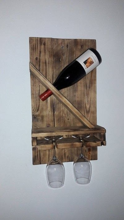 How to make a wood burned box. Diy Weinhalter Aus Eu Pallete / Wineholder Out Of Palette - Step 9