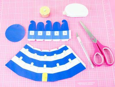 How to make a lantern. Diy Printable Lighthouse Tealight Holder - Step 1
